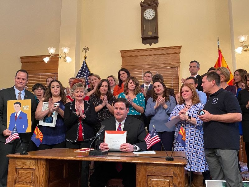 Governor Ducey Signing Jake's Law